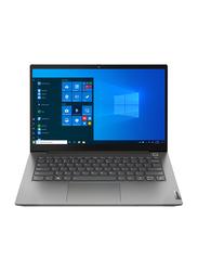 "Lenovo ThinkBook G2 Laptop, 14"" FHD IPS Display, Intel Core i5 1135G7 11th Gen 2.4GHz, 256GB SSD, 8GB RAM, EN/AR KB, Windows 10 Pro Grey"
