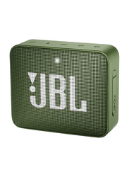 JBL Go 2 Water Resistant Portable Bluetooth Speaker, Moss Green