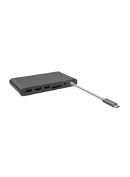HyperDrive USB Type-C Ultimate Hub for USB Type-C Devices, GN30, Grey