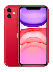 Apple iPhone 11 64GB Red, Without FaceTime, 4GB RAM, 4G LTE, Dual Sim Smartphone