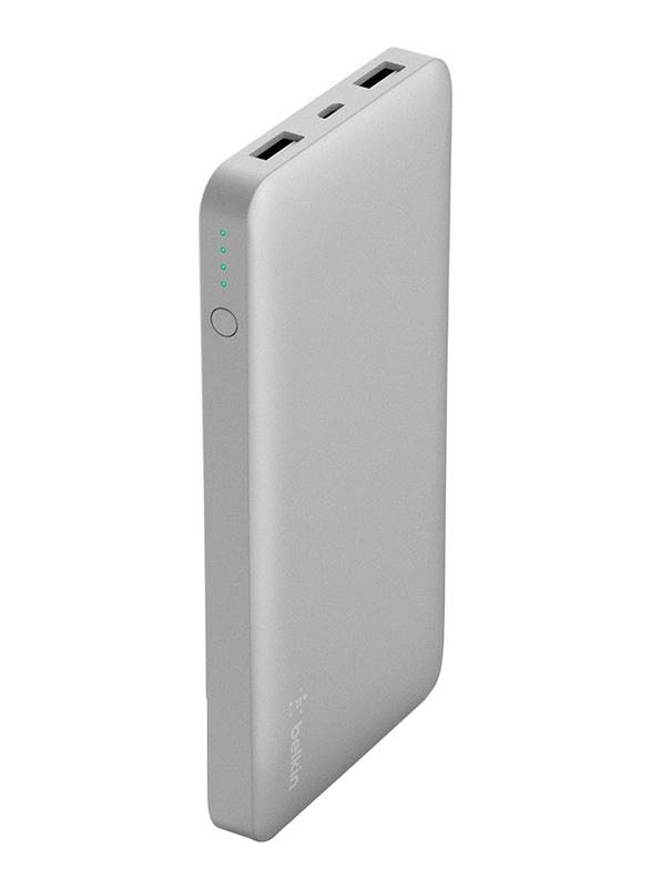 Belkin 5000mAh Pocket Power F7U019BTSLV Fast Charging Power Bank, Silver