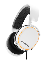 Steelseries Arctis 5 2019 Edition RGB Illuminated On-Ear Noise Cancelling Gaming Headset, with Mic, White
