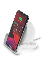 Belkin Boost UP 10W Fast Charging, Wireless Qi Certified Charging Stand for iPhone, White