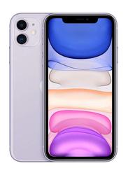 Apple iPhone 11 128GB Purple, Without FaceTime, 4GB RAM, 4G LTE, Dual Sim Smartphone