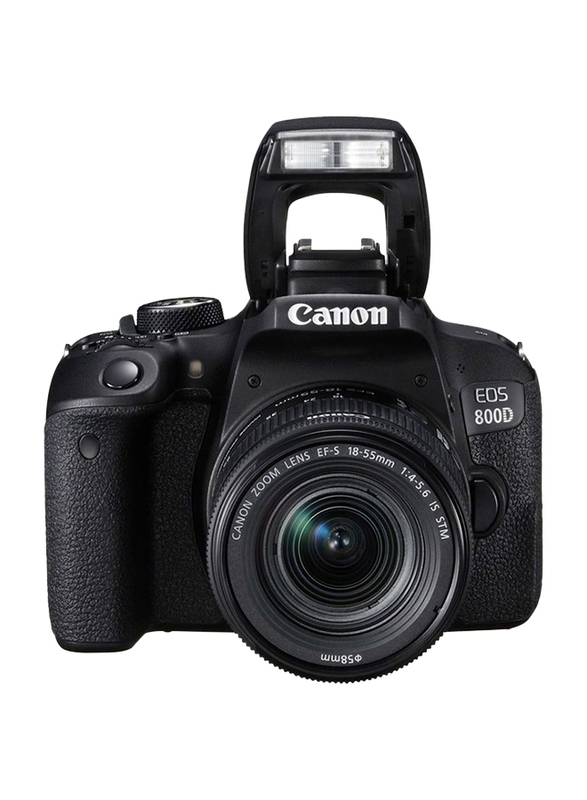 Canon EOS 800D DSLR Camera with 18-55 IS STM Lens, 24.2MP, Full HD, Black