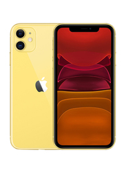 Apple iPhone 11 128GB Yellow, Without FaceTime, 4GB RAM, 4G LTE, Dual Sim Smartphone