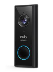 Eufy Powered Battery 2K Video Doorbell, Black