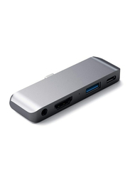 Satechi Aluminum Type-C Mobile Hub Adapter for Apple iPad Pro, Space Grey