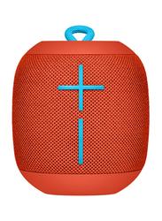 Ultimate Ears Wonderboom Water Resistant Wireless Portable Bluetooth Speaker, Red