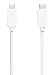 Sony 1-Meter USB Type-C Charging and Data Transfer Cable, High-Speed 3.0A USB A Male to USB Type-C, White