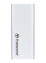Transcend 480GB SSD ESD240C External Portable Hard Drive, USB 3.1, Silver