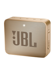 JBL Go 2 Water Resistant Portable Bluetooth Speaker, Pearl Champagne
