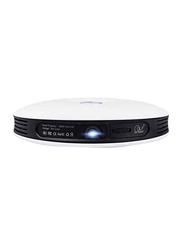 OJI SAP24 Smart Android HD DLP Wireless Portable Projector, White