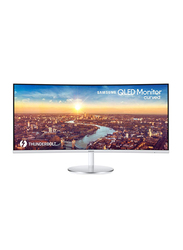 Samsung 34-inch Thunderbolt Curved LED Monitor, LC34J791, White