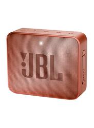 JBL Go 2 Water Resistant Portable Bluetooth Speaker, Sunkissed Cinnamon