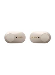 Sony 1000XM3 True Wireless In-Ear Noise Canceling Headphones, Silver