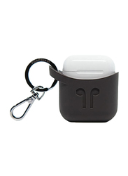 Podpocket Silicone Case for Apple AirPods, Cocoa Gray