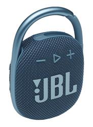 JBL Clip 4 IP67 Waterproof Portable Bluetooth Speaker, Blue