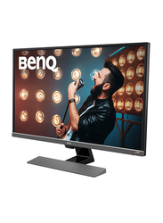 BenQ 32 Inch LED Video Enjoyment Monitor with Eye-care Technology, EW3270U, Metallic Grey