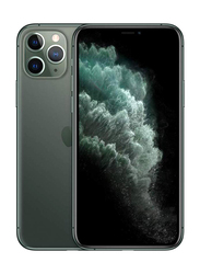 Apple iPhone 11 Pro Max 64GB Midnight Green, Without FaceTime, 4GB RAM, 4G LTE, Dual Sim Smartphone