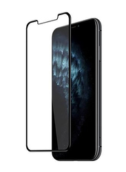 Inet Apple iPhone 11 3D Full Glue TG Mobile Phone Screen Protector with Back Case Cover, Clear/Black