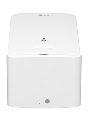 LG Ultra Short Throw FHD LED Wireless Laser Projector, 1500 Lumens, Built-in Speaker, White