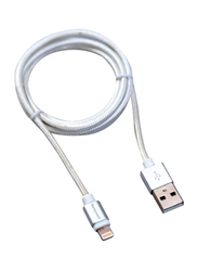 Honeywell 1.2-Meter Lightning Braided Charge/Sync Cable, USB A Male to Lightning for Apple Devices, Silver