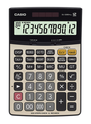 Casio DJ-220D Plus Calculator with Check Function, Silver/Black