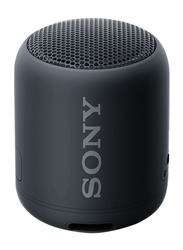 Sony SRS-XB12 Extra Bass Water Resistant Portable Wireless Bluetooth Speaker, Black