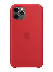 Apple Silicone Back Case Cover for Apple iPhone 11 Pro Mobile Phone, Red