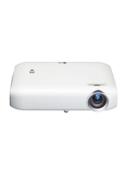 LG Minibeam PW1000G LED Wireless Portable Projector, 1000 Lumens, White