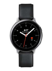 Samsung Galaxy Active 2 - 44mm Smartwatch, GPS, Silver Stainless Steel Case with Black Fluorcelastomer Band