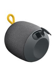 Ultimate Ears Wonderboom Water Resistant Wireless Portable Bluetooth Speaker, Grey