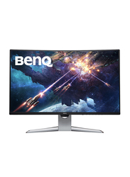 BenQ 31.5 inch Curved QHD LED Gaming Monitor, EX3203R, Silver