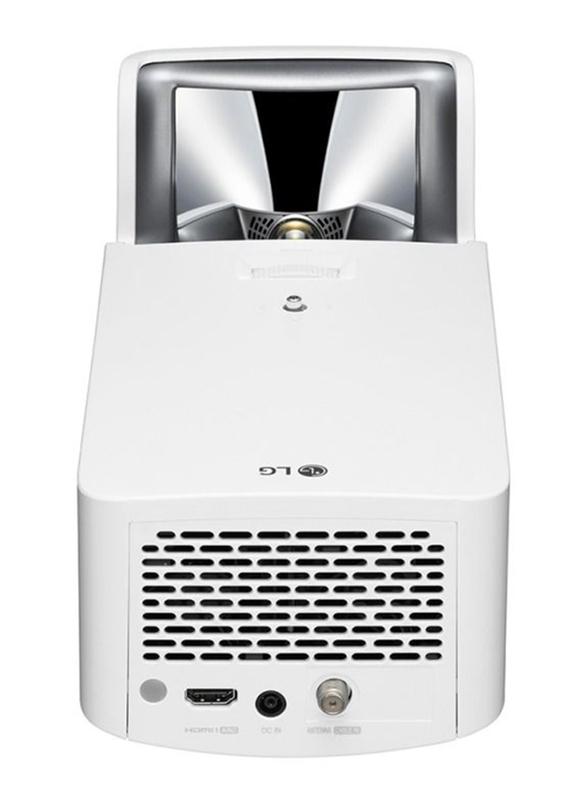 LG Ultra Short Throw FHD LED Wireless Laser Projector, 1500 Lumens, Built-in Speaker, White