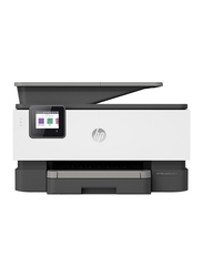 HP OfficeJet Pro 9013 1KR49B All-in-One Printer, White/Black