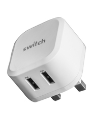 Switch iPhone Wall Charger, MFI Certified, USB Data to Lightning Charge Cable, White