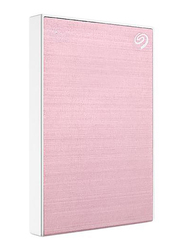 Seagate 2TB HDD Backup Plus Slim External Portable Hard Drive, USB 3.0, STHN2000405, Rose Gold