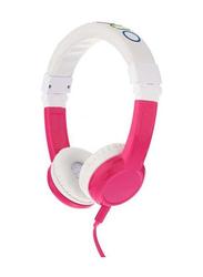 Onanoff BuddyPhones Explore Foldable 3.5 mm Jack On-Ear Headphones with Mic, Pink