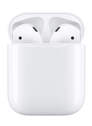 Apple AirPods 2019 Wireless In-Ear Noise Cancelling Headphones, with Charging Case, White