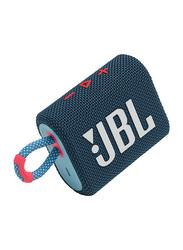 JBL Go 3 IP67 Waterproof Portable Bluetooth Speaker, Blue