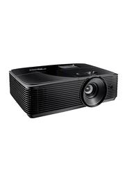 Optoma S334e HD LCD Wireless Portable Projector, 3800 Lumens, Built-in Speaker, Black
