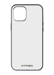 Hyphen Apple iPhone 12 5.4-inch Mobile Phone Case Cover, Clear/Silver