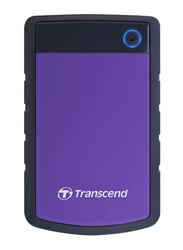 Transcend 4TB HDD StoreJet 25H3P External Portable Hard Drive, USB 3.0, Purple