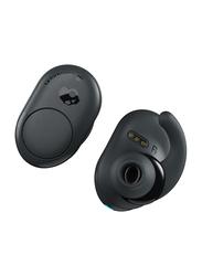 Skullcandy Push True Wireless In-Ear Earbuds, Dark Grey/Black