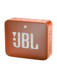 JBL Go 2 Water Resistant Portable Bluetooth Speaker, Coral Orange