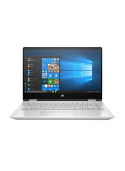 "HP Pavilion x360 2-in-1 Convertible Laptop, 14"" FHD, Intel Core i5-10210U 10th Gen 4.2GHz, 512GB SSD, 8GB RAM, 2GB NVIDIA GeForce MX130 Graphics, ENG KB, Win 10 Home, 14-DH1026NE, Silver"