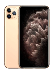 Apple iPhone 11 Pro Max 256GB Gold, Without FaceTime, 4GB RAM, 4G LTE, Dual Sim Smartphone