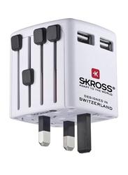 Skross World USB Charger, 1302320, White/Black