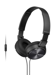 Sony ZX Series On-Ear Stereo Headset, with Mic, Black